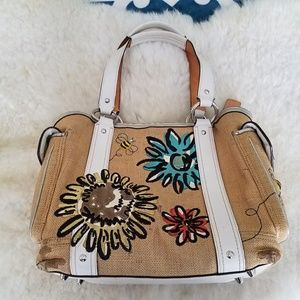 Coach limited edition Spring straw tote